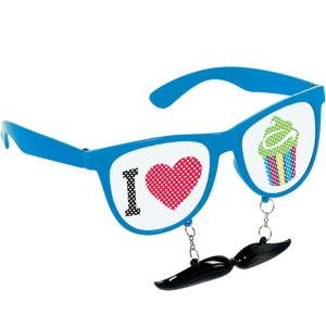 Moustache Printed Glasses