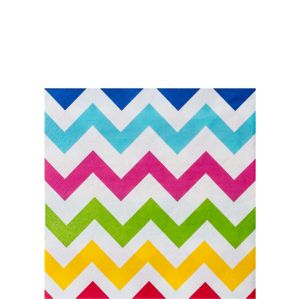 Bright Rainbow Chevron Beverage Napkins 36ct