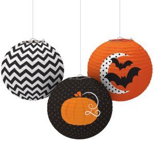 Modern Halloween Paper Lanterns 3ct