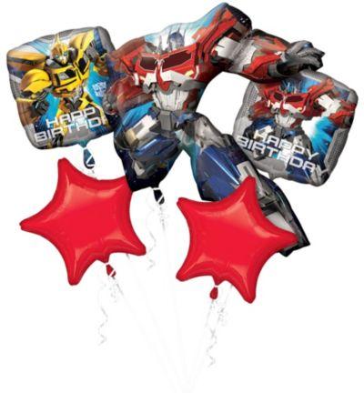 Transformers Balloon Bouquet 5pc - Optimus Prime
