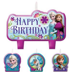 Frozen Birthday Candles 4ct