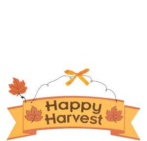Glitter Happy Harvest Sign