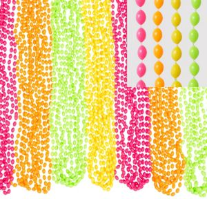 Black Light Neon Bead Necklaces 50ct