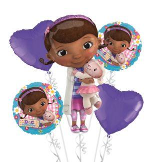 Doc McStuffins Balloon Bouquet 5pc - Hearts