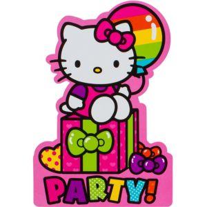 Rainbow hello kitty invitations 8ct party city - Hello kitty birthday images ...