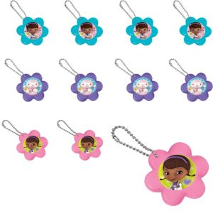 Doc McStuffins Flower Mirror Key Chains 24ct