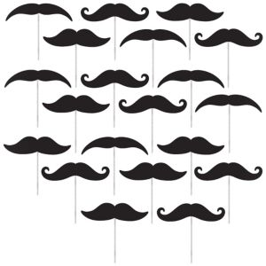 Moustache Party Picks 20ct
