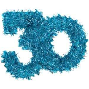 The Party Continues 30th Birthday Tinsel Hanging Decoration 11in