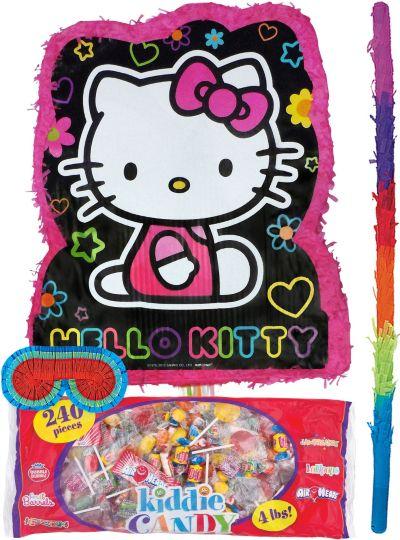 Pull String Neon Hello Kitty Pinata Kit