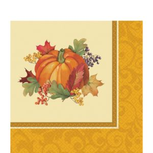 Bountiful Holiday Lunch Napkins 16ct