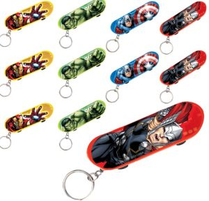 Avengers Skateboard Key Chains 48ct