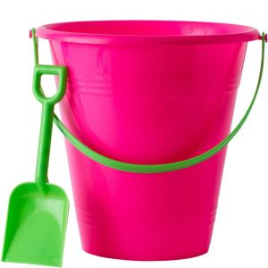 Bright Pink Pail with Shovel