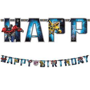Transformers Birthday Banner