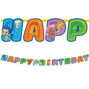 Bubble Guppies Birthday Banner