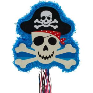 Pull String Skull and Crossbones Pinata