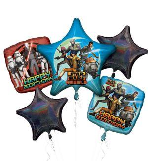 Happy Birthday Star Wars Rebels Balloon Bouquet 5pc