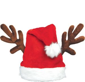 Antler Santa Hat
