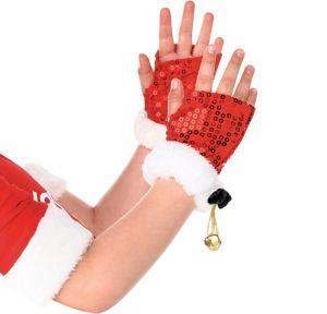 Child Santa Fingerless Gloves