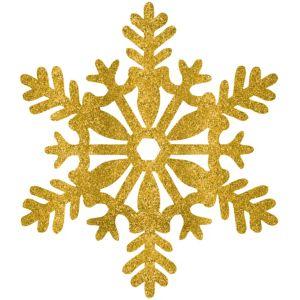 Glitter Gold Snowflake
