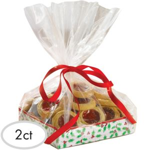 Holly Treat Trays 2ct