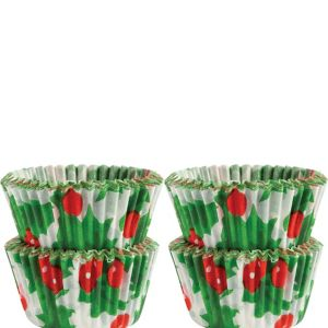 Holly Mini Baking Cups 100ct