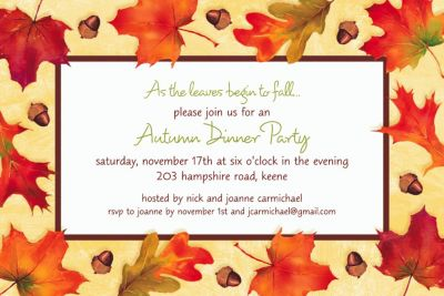Autumn Day Custom Invitation