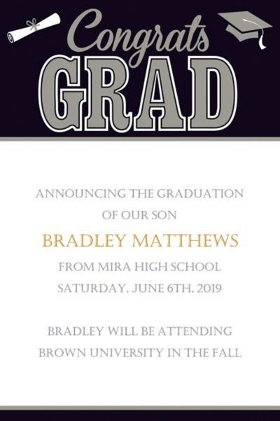 Custom Graduating Class Announcements