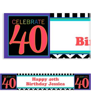 Custom 40th Celebration Banner 6ft