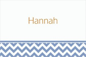 Custom Pastel Blue Chevron Thank You Notes