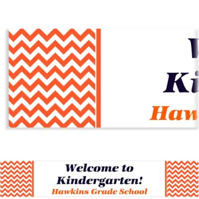 Orange Chevron Custom Banner