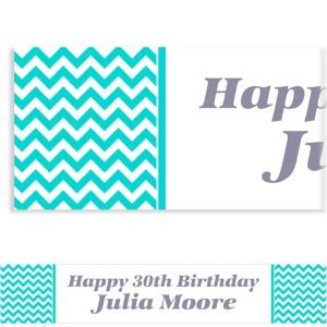 Custom Robin's Egg Blue Chevron Banner 6ft