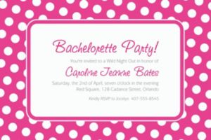 Custom Bright Pink Polka Dot Invitations