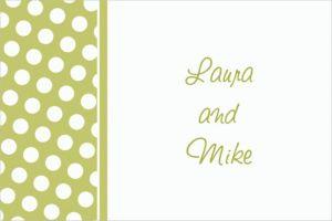Custom Leaf Green Polka Dot Thank You Notes