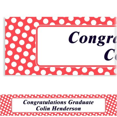 Red Polka Dot Custom Banner