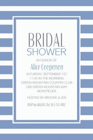 Custom Pastel Blue Stripe Invitations
