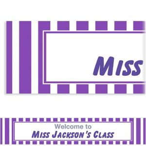 Custom Purple Stripe Banner 6ft