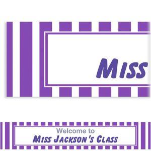 Custom Purple Stripe Banner 6ft
