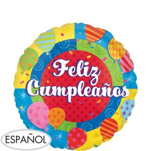 Feliz Cumpleanos Balloon - Colorful