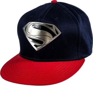 Metal Plate Superman Baseball Hat