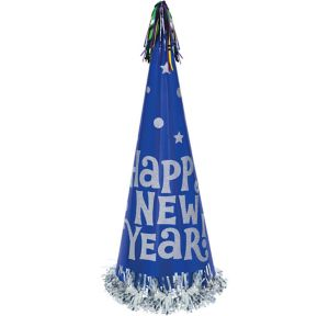 Blue Tall New Year's Cone Hat