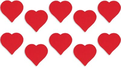 Red Heart Cutouts 10ct