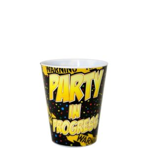 Warning Party Shot Glass