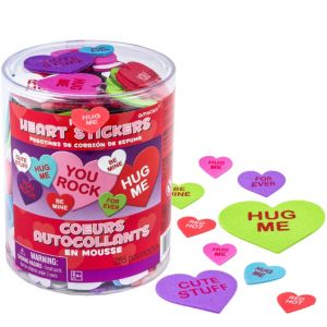 Conversation Heart Foam Stickers 285ct