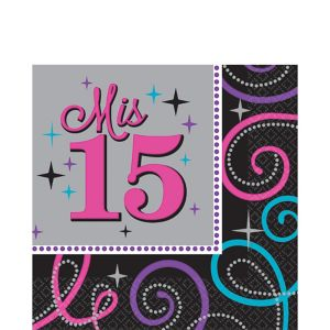 Mis Quince Quinceanera Lunch Napkins 16ct