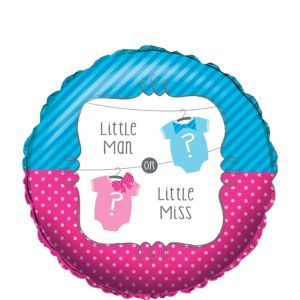 Little Man, Little Miss Gender Reveal Balloon