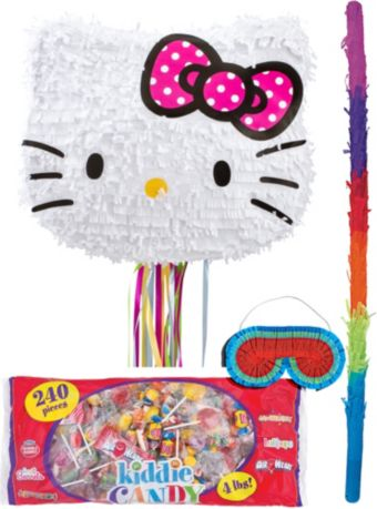 Pull String Hello Kitty Pinata Kit
