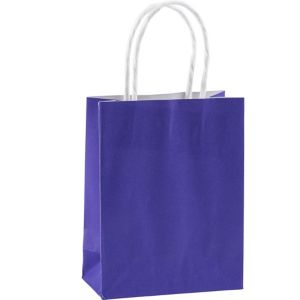 Purple Kraft Bags 10ct - Party City