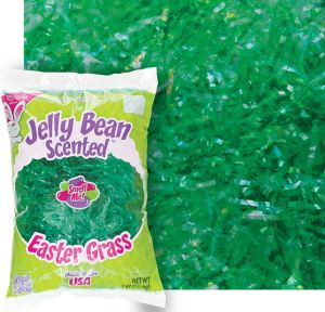 Scented Green Plastic Easter Grass