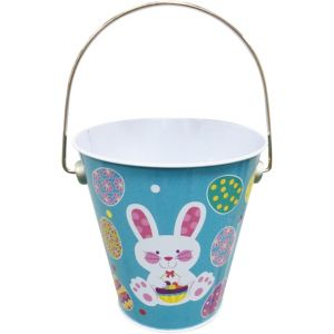 Easter Bunny Metal Pail