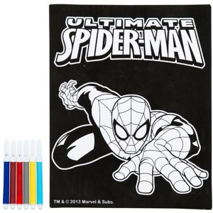 Spider-Man Velvet Coloring Poster with Markers
